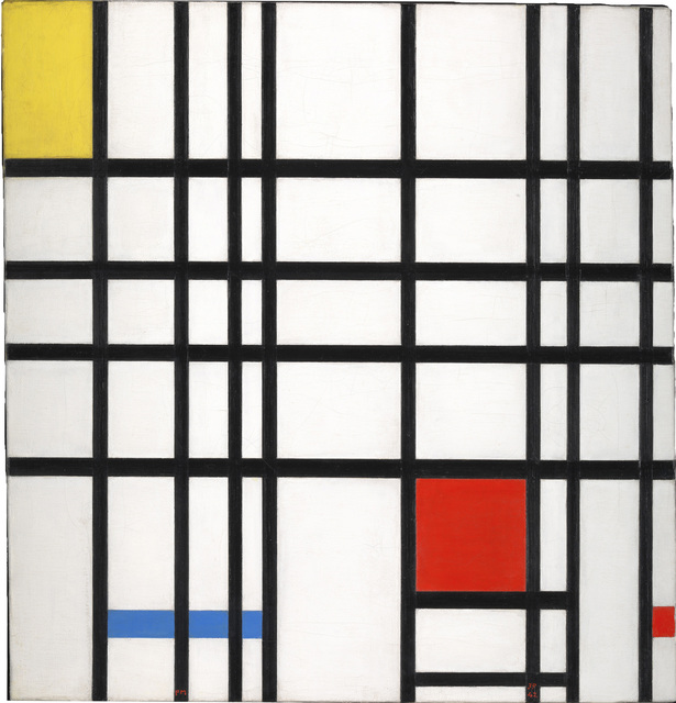, 'Composition with Yellow, Blue and Red,' 1937-1942, Whitechapel Gallery