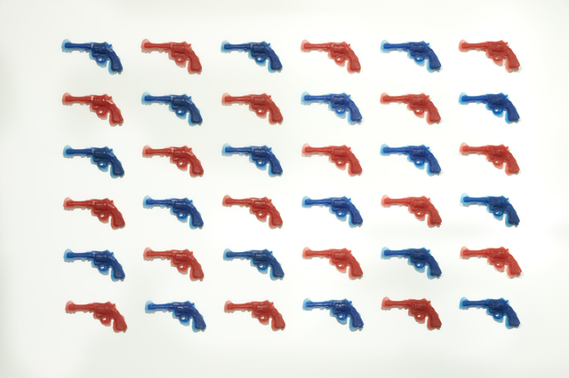 , 'RedGunBlueGun (36 piece installation),' 2014, Mark Moore Fine Art
