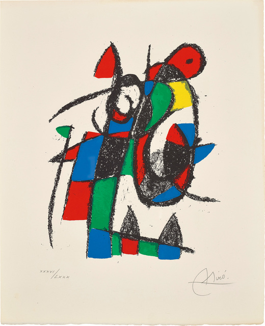 Joan Miró, 'Joan Miró Lithographs II: one plate', 1975, Phillips