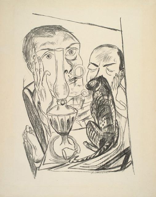 , 'Selbstbildnis mit Katze und Lampe,' 1920, Charles Nodrum Gallery
