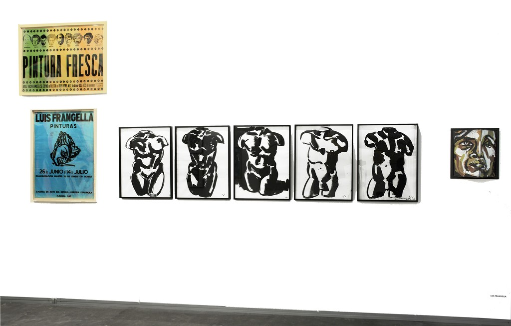 "Cabinet view. Luis Frangella Cabinet with the serie of Torsos, ""Adriana"" and posters"
