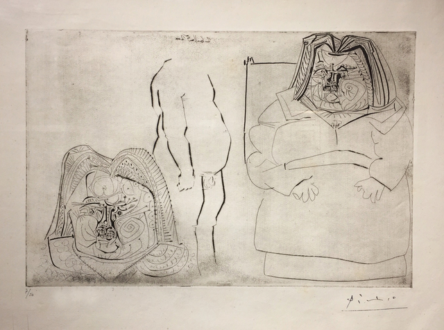 Pablo Picasso, 'Balzac, après Rodin', 1952, Mixed Media, Etching and drypoint on cream laid paper, LaMantia Fine Art Inc.