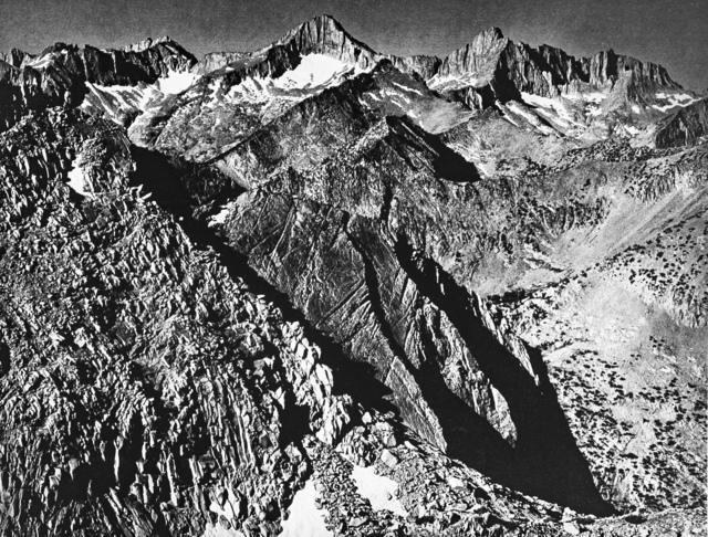 Ansel Adams, 'Mount Brewer Group from Glen Pass', 1939, White Cross