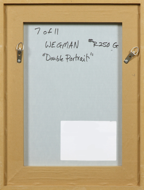 William Wegman, 'Double Portrait (From Many Ray:  A Portfolio of 10 Photographs)', 1982, Photography, Silver gelatin print, Heather James Fine Art