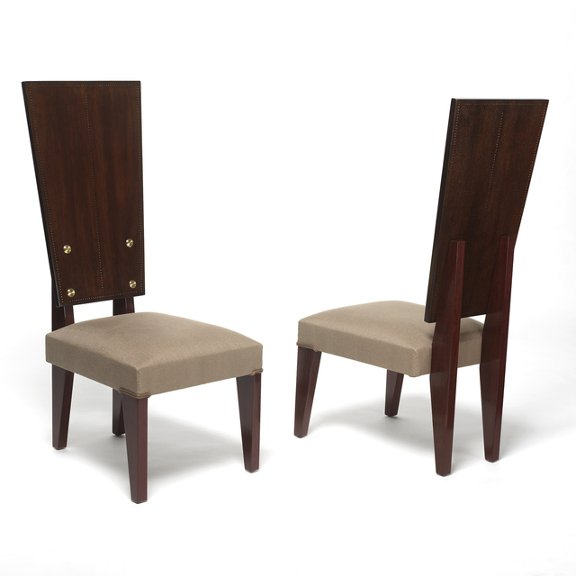 , 'Two armless chairs,' ca. 1935, Galerie Alain Marcelpoil