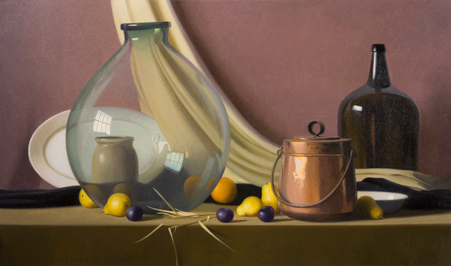 Robert Douglas Hunter, 'Green Pears – Purple Plums', Ca. early 1960s, Painting, Oil on canvas, Vose Galleries