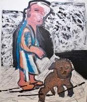 Karel Appel, 'Woman with Dog', 1983, Kunzt Gallery