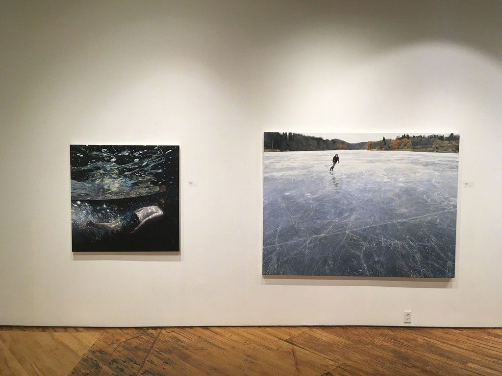 Left to right: 'Moonage Daydream', 'Skating on Blue Grey Ice'