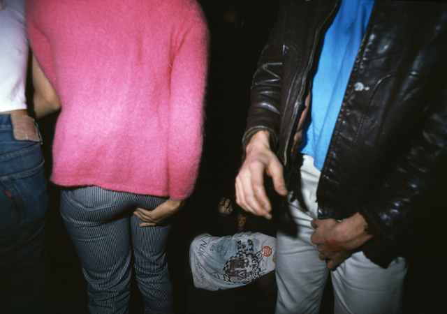 , 'Two people touching, and a guy passed out,' 1977, Casemore Kirkeby