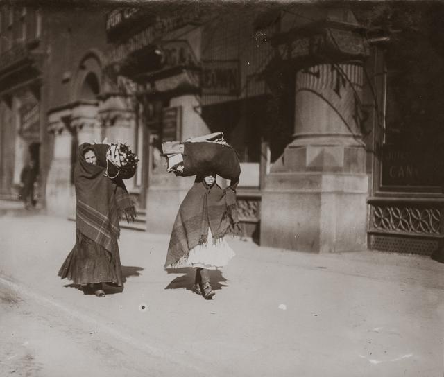 Lewis Wickes Hine, 'Women Carrying Garments, Bleecker Street, New York City, New York', 1912, Photography, Gelatin silver print, Robert Klein Gallery