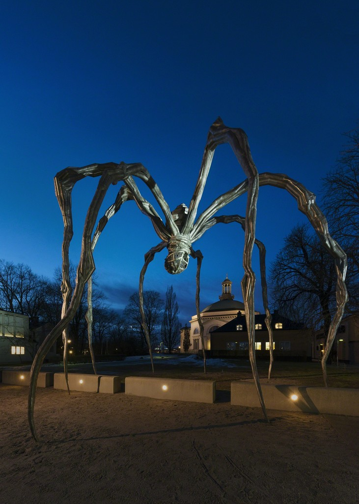 Louise Bourgeois. Installation view, Maman (1999) by the Moderna Museet's entrance, January 2015 © The Easton Foundation/BUS 2015. Photo: Åsa Lundén/Moderna Museet. Collection The Easton Foundation.