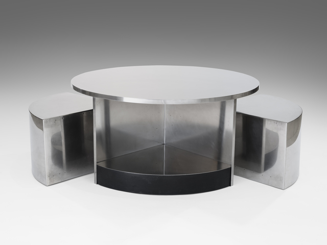 Maria Pergay, 'Two-seat tambour table', 1968, 18 Davies Gallery