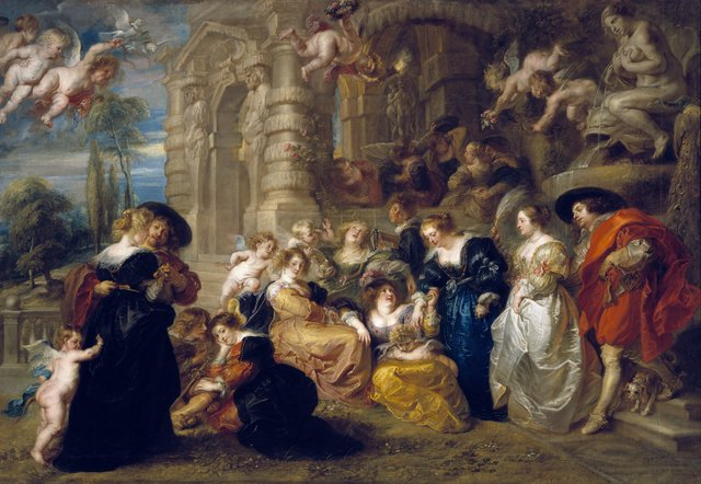 , 'The Garden of Love,' c. 1633, Royal Academy of Arts
