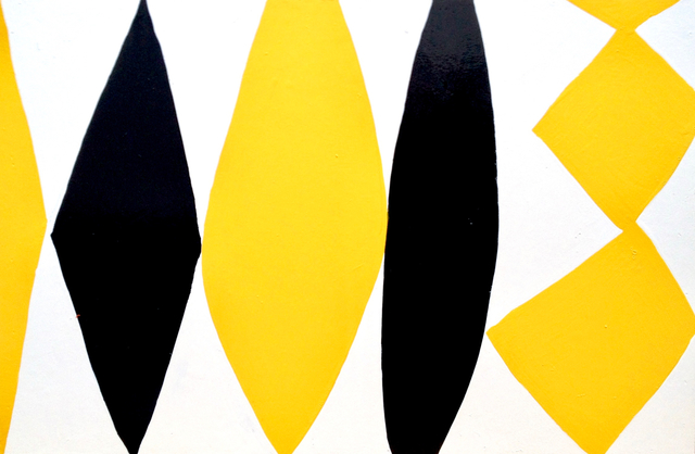 Kim MacConnel, 'Enamel Panel #6 (yellow, white, black)', 2004, Rosamund Felsen Gallery