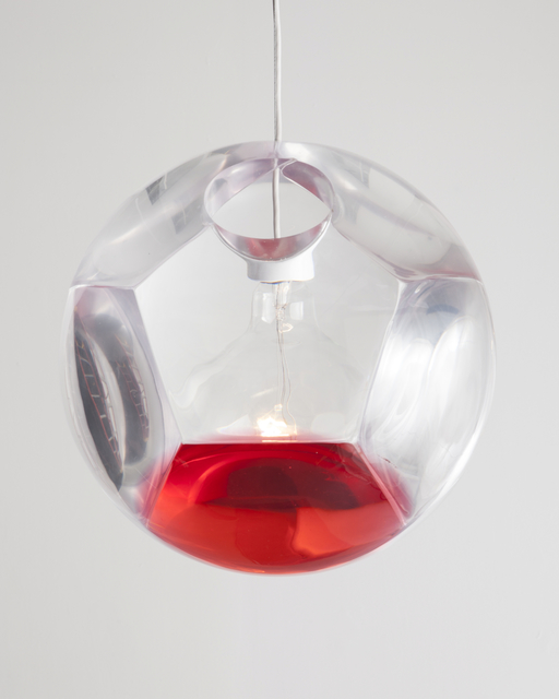 ", 'Large ""Dodecahedron"" Chandelier and Optical Instrument with One Red Lens,' 2014, R & Company"