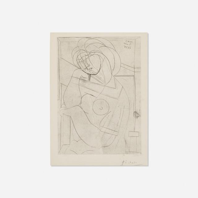 Pablo Picasso, 'Femme nue assise, la Tete appuyee sur la Main from La Suite Vollard', 1934, Rago/Wright