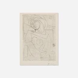 Femme nue assise, la Tete appuyee sur la Main from La Suite Vollard