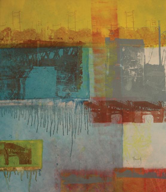 Gillian Pokalo, 'Commute', 2006, Print, Oil and screen print on canvas, InLiquid