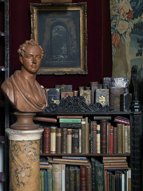 , 'Stephen Calloway's London House 2, Books With Bust,' 2014, Benrubi Gallery