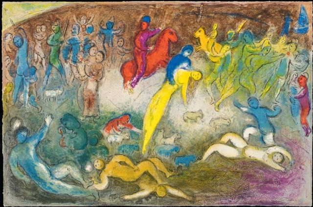 Marc Chagall, 'Chloe is Carried Off by the Methymneans', 1961, Print, Original lithograph printed in colors on Arches wove paper., Galerie d'Orsay