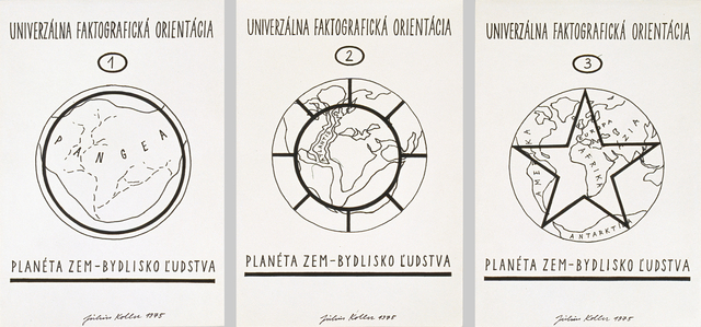 , 'Univerzálna Faktografická Orientácia 1-3,' 1975, Galerie Martin Janda
