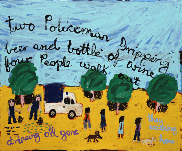 , 'Two Policeman Dripping Beer...,' 2019, Edwina Corlette Gallery