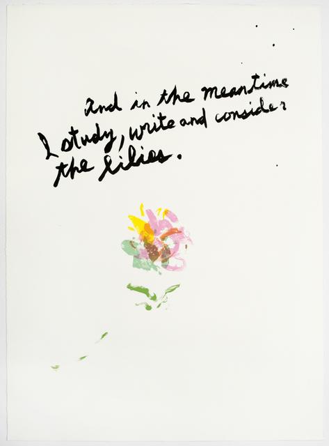 , 'Untitled (Lilies),' 2018, Brooke Alexander, Inc.
