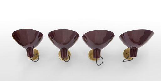 A set of four modello 2 wall lamps