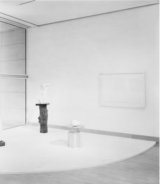 Simon Starling, 'From left to right: #16 of 36 Constantin Brancusi, Beginning of the World (c.1920); #17 of 36 Modified Deardorff 8 x 10 Field Camera photographing Constantin Brancusi, Beginning of the World (c. 1920); #18 of 36 Dallas Cowboys Autograph Football', 2013-2014, Photography, Gelatin silver print, Galleria Franco Noero