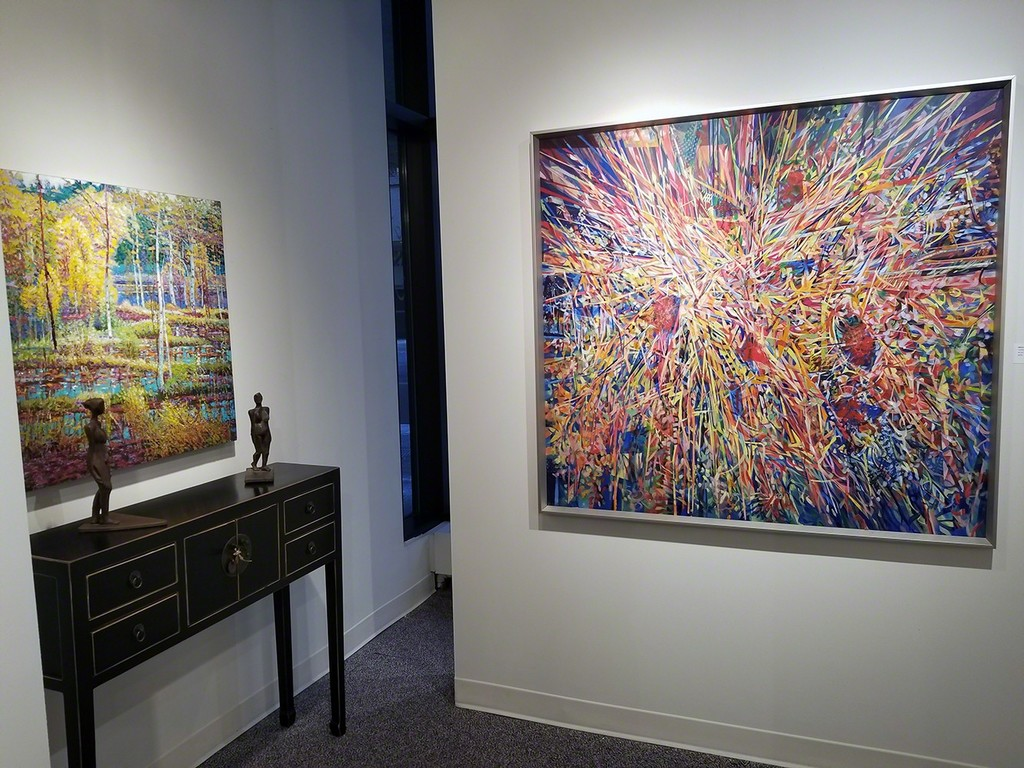 Shi Le (left) and Bruce Head (right) - two different approaches and still a kaleidoscope of colour, and light