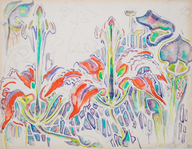 Walter Anderson, 'Red Wood Lilies and Pitcher Plants', Amanda Winstead Fine Art