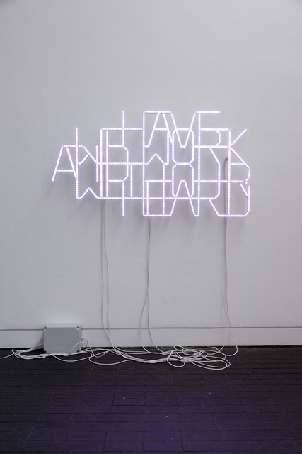, 'We Have To work Hard and Work With Our Heart,' 2014, Pearl Lam Galleries