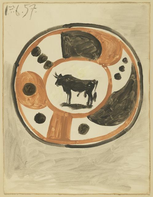 Pablo Picasso, 'Maquette pour céramique', 1957, Galeria Mayoral