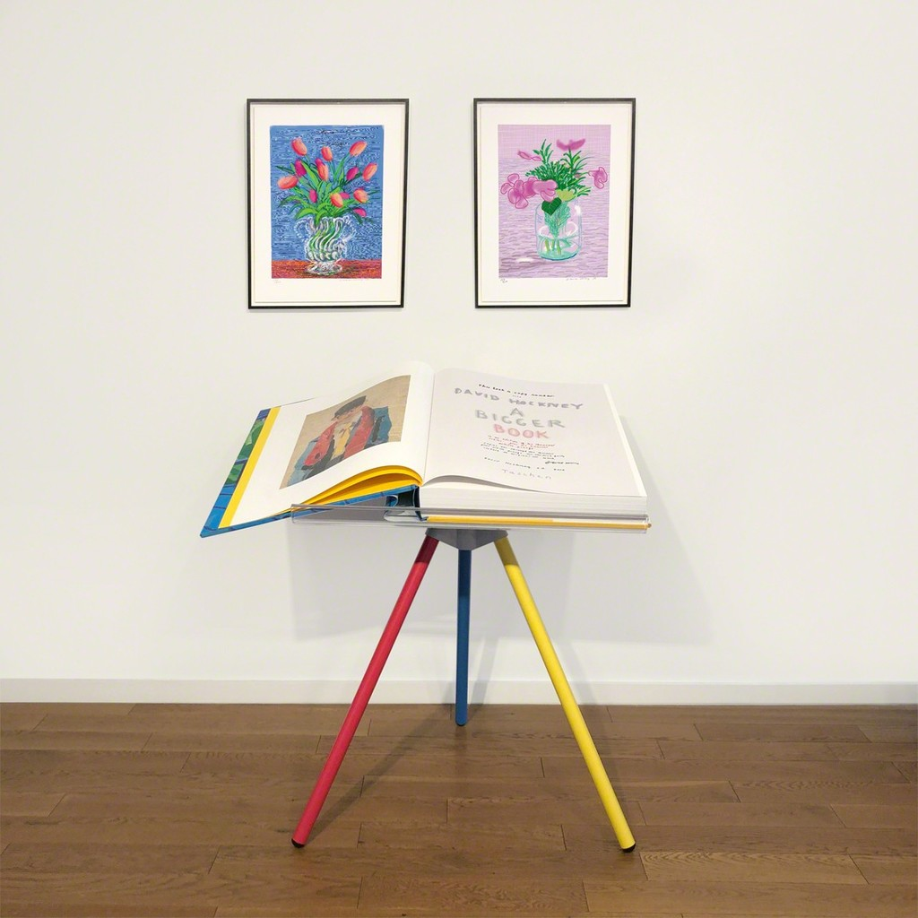 """David Hockney, Untitled 346 or """"Untitled 329"""", Book with a print in colours on Arches, 2016"""