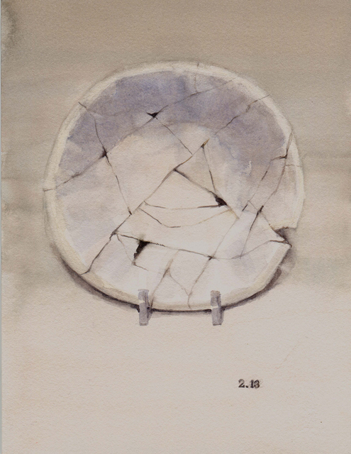 , 'Plate Possible Used by Immigrants (History Museum),' 2016, G. Gibson Gallery