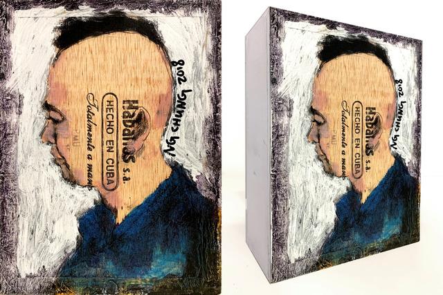 Ng Chung, 'Cigar Box', 2019, Painting, Oil on Habanos Cigar Box, Contemporary by Angela Li
