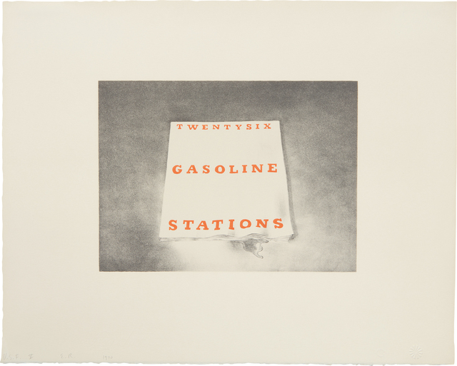 Ed Ruscha, 'Twentysix Gasoline Stations, from Book Covers', 1970, Print, Lithograph in colors, on Arches paper, with full margins, Phillips
