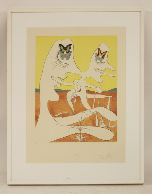 Salvador Dalí, 'Butterflies Of Anti-Matter', Print, Etching and lithograph printed in colours, Sworders