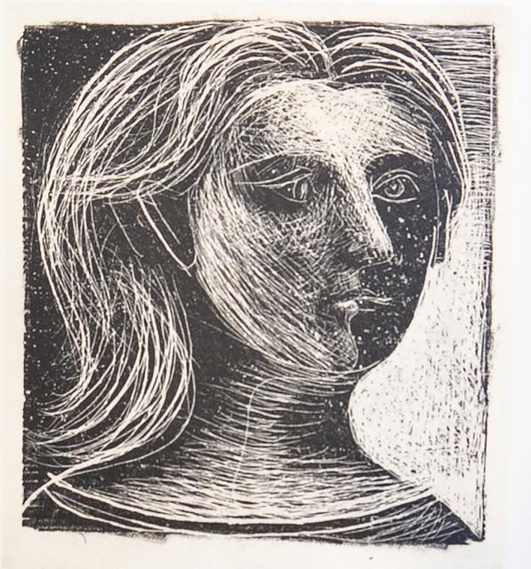 Pablo Picasso, 'Tete de Femme (Woman's Head), 1949 Limited edition Lithograph by Pablo Picasso', 1949, Reproduction, Lithograph, White Cross
