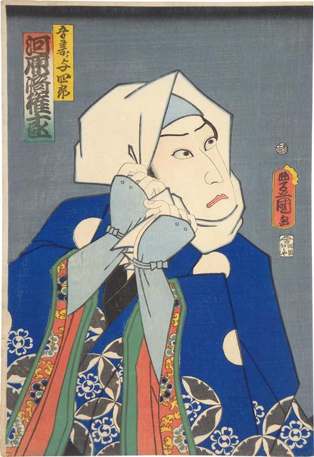 Utagawa Toyokuni III (Utagawa Kunisada), 'Azuma no Yoshiro', 1861, Scholten Japanese Art