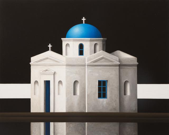 , 'Mykanos Blue Dome Black Sky,' 2017, Flowers
