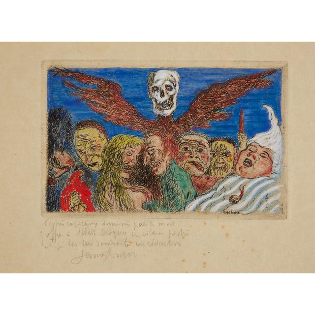 """James Ensor, 'Péchés Capitaux Dominés Par La Mort From """"Les Sept Péchés Capitaux"""" (""""The Deadly Sins Dominated By Death"""" from """"The Deadly Sins"""")', 1904, Freeman's"""