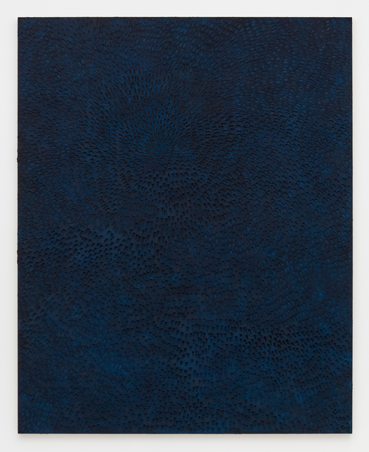 , 'Undertow (Painted Black Sand SF #2F, Blue and Black),' 2016, David Kordansky Gallery