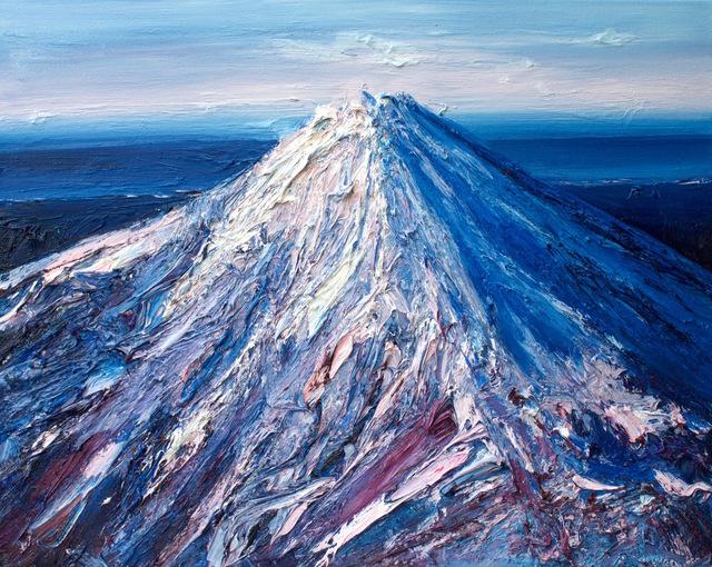 , 'Mt Taranaki in Winter,' 2017, Rebecca Hossack Art Gallery