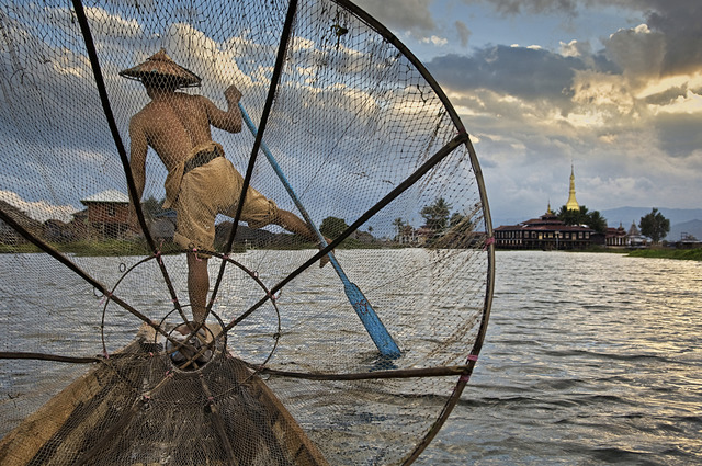 , 'Fisherman on Inle Lake, Burma,' 2008, Etherton Gallery