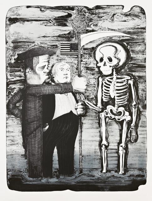 Nicole Eisenman, 'Tea Party', 2012, Print, Lithograph, edition: 25, Jungle Press