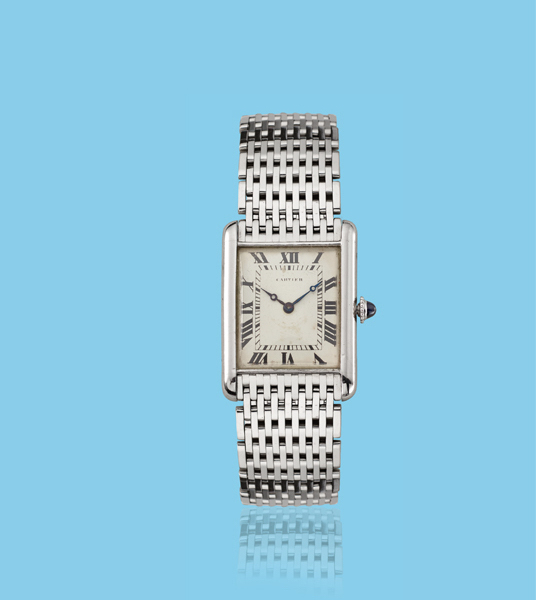 , 'White gold Tank wristwatch,' ca. 1950, Davide Parmegiani Fine Watches