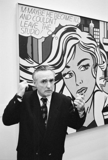 , 'Denis Hopper devant une peinture de Roy Lichtenstein « M-maybe » (1965), Musée Ludwig, Cologne,' 28.03.1992, Musée d'Art Moderne de la Ville de Paris