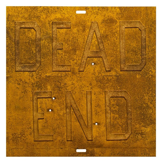 , 'Rusty Signs - Dead End 2,' 2014, Mixografia