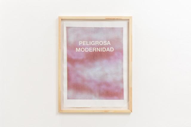Luis Romero, 'Peligrosa Modernidad', 2013, Monotipo serigráfico / Serigraphic monotype., Instituto de Visión